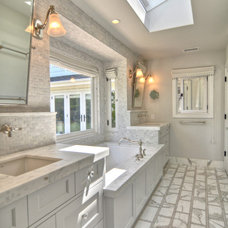 Eclectic Bathroom by Dwellings Design Group