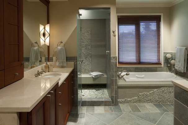 Eclectic Bathroom by HBF plus Design