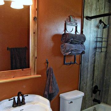 Western Themed Hall Bathroom