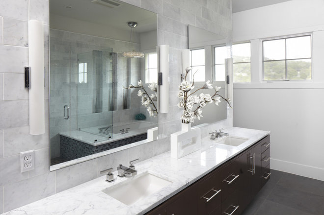Contemporary Bathroom by Tracy Miller/Miller Greene Design Studio