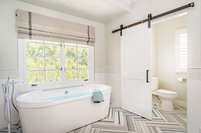 Transitional Bathroom by JRP Design & Remodel