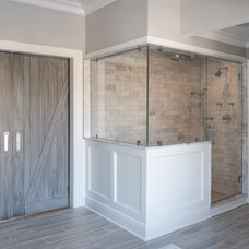 Transitional Bathroom by Cory Connor Designs