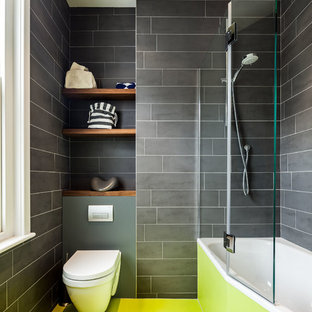 Inspiration for a contemporary open shower remodel in London