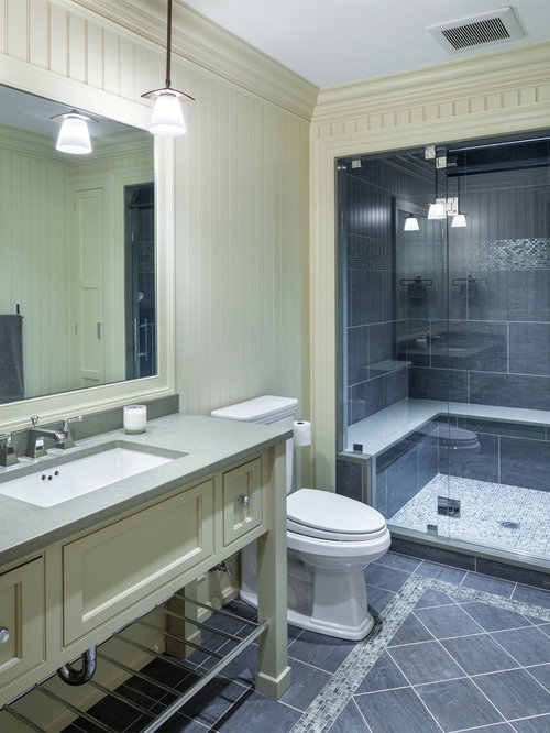 Bathroom design ideas remodels photos with zinc for Zinc countertop cost