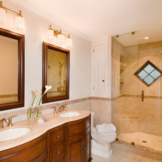 Traditional Bathroom by D.R.M. Design Build, Inc.