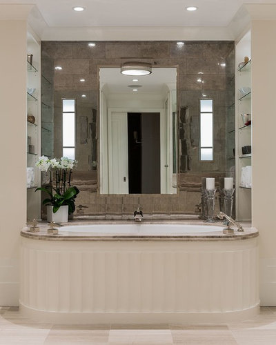 Transitional Bathroom by F. D. Hodge Interiors