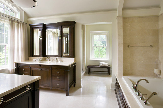 Transitional Bathroom by SLC Interiors