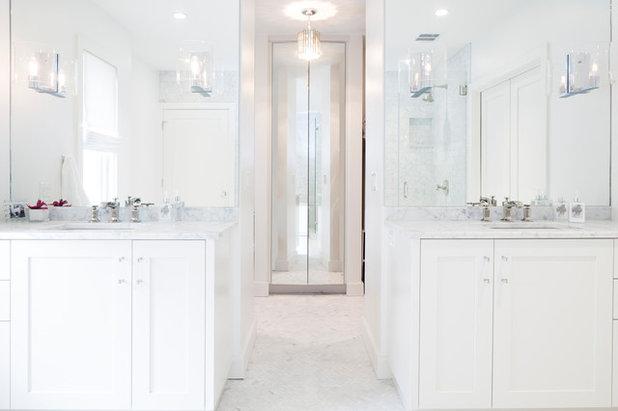 Transitional Bathroom by Arbib Hughey Design