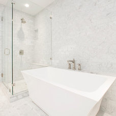 Transitional Bathroom by Arbib Hughey Design