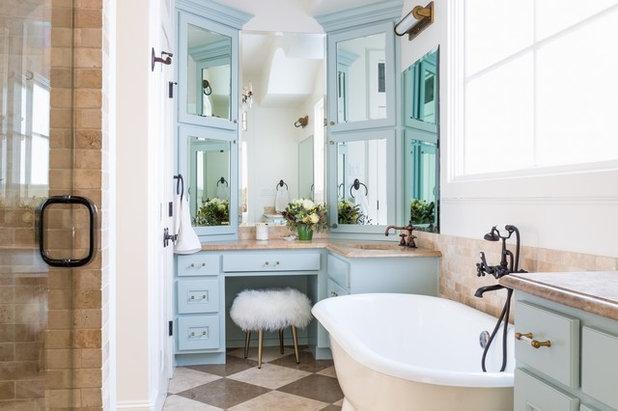 Transitional Bathroom by Vanguard Studio Inc.