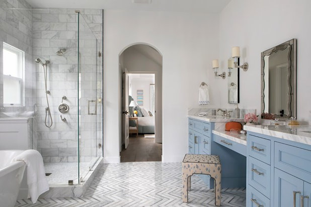 Transitional Bathroom by Paige Pierce Design