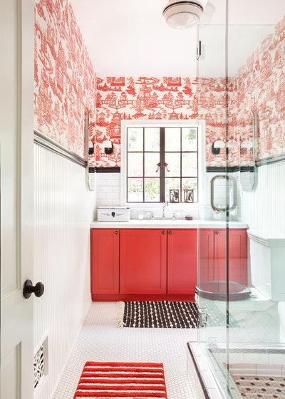 Farmhouse Bathroom by RubberTreePlant