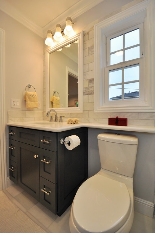 How Much Space Between Toilet And Vanity And Toilet And Bath?