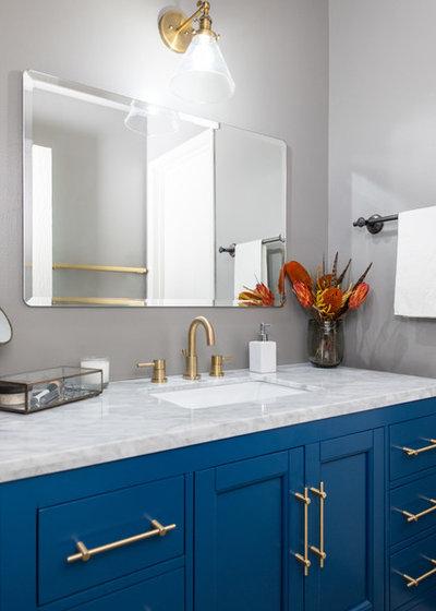 Transitional Bathroom by Studio Revolution