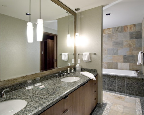 Hanging lights over vanity houzz for Pendant lighting for bathroom vanity