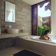 Tropical Bathroom by Sareen Stone