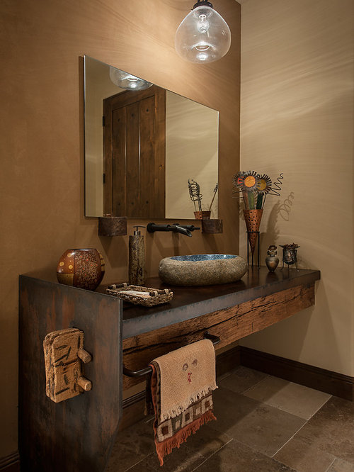 Southwestern Counter With Sink Bath Design Ideas Pictures Remodel Decor