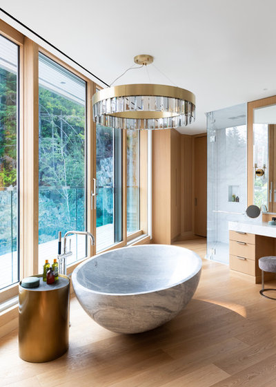 Contemporary Bathroom by Vision Pacific Contracting Ltd.