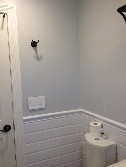 4x10 subway bathroom design ideas remodels photos for Bathroom 4 x 8