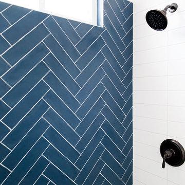 White and Blue Bathroom Freshen Up