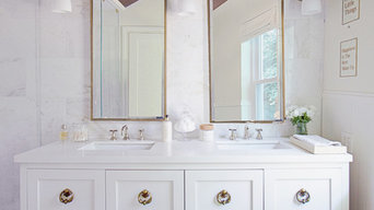 White and Gold Master Bath