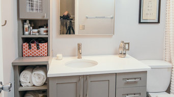 White and Gray Bathroom Remodel