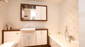 White & Wood Bathroom, Kent