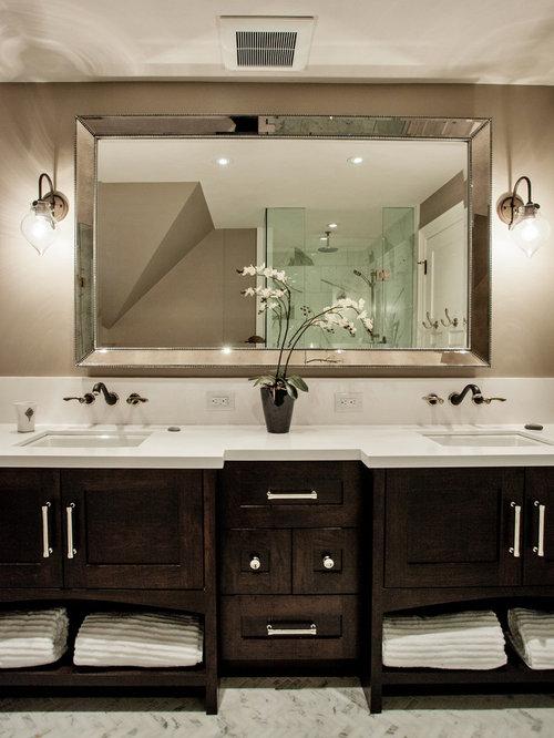 Salle de bain avec un carrelage blanc photos et id es for Francenne carrelage