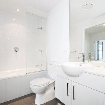 White Bathroom Concept Built In Frisco