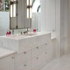 Contemporary Bathroom by A.USA Contractors inc