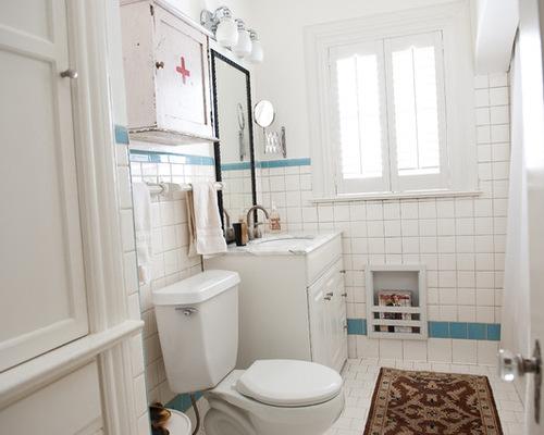 White Square Tile Bathroom ceramic tile bathroom magazine rack. quick and easy bath storage