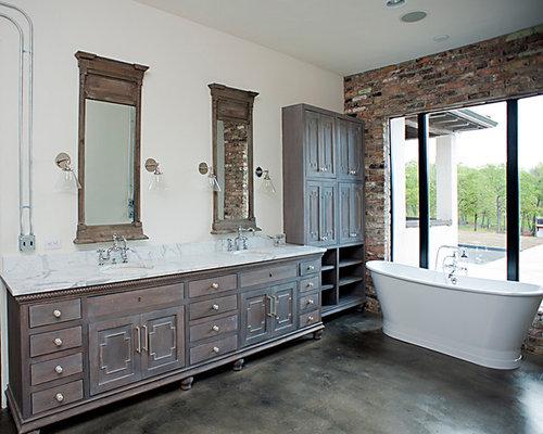 Bathroom design ideas renovations photos with for Bathroom cabinets okc