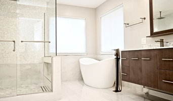 White Carrara Marble Tile Master Bathroom - Millcreek Wa