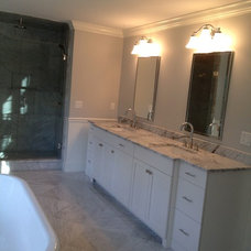 Transitional Bathroom by Absolute Granite & Design