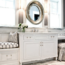 Transitional Bathroom by Karr Bick Kitchen and Bath
