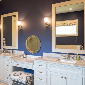 White Inset His and Hers Master Bath