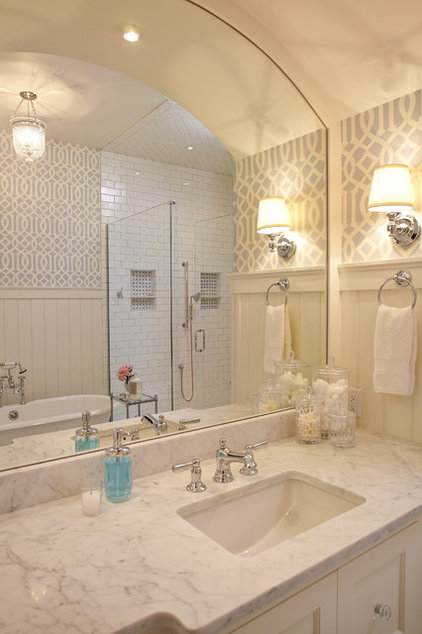 Beach Style Bathroom by Francesca Owings Interior Design