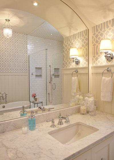 Coastal Bathroom by Francesca Owings Interior Design