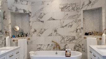 White Marble Bathroom Remodel