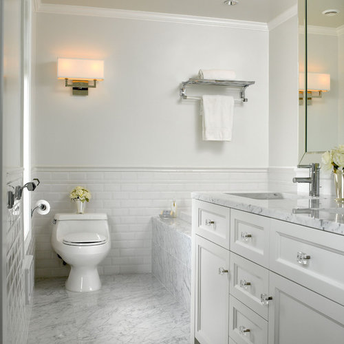 white marble bathroom houzz. beautiful ideas. Home Design Ideas