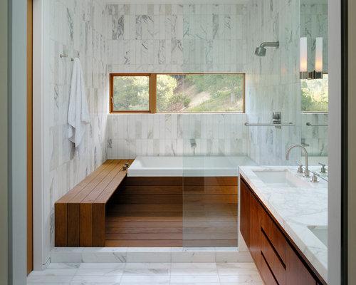 White Marble BathroomHouzz