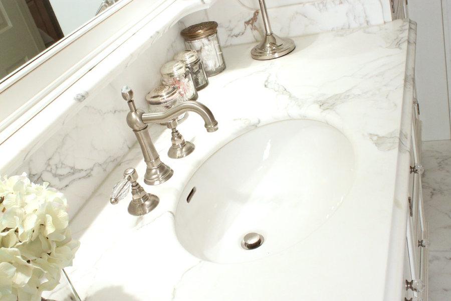 White Marble Slab Bathroom