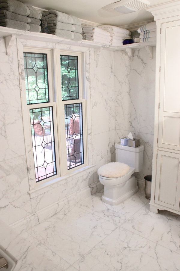 White Marble Slab Bathroom