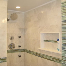 Tropical Bathroom by StoneMar Natural Stone Company LLC
