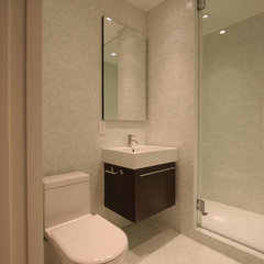 modern bathroom White Mosaic Bathroom
