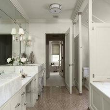 Transitional Bathroom by Rehkamp Larson Architects, Inc.