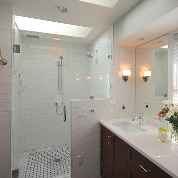 White on White | Bellevue Master Bath Remodel