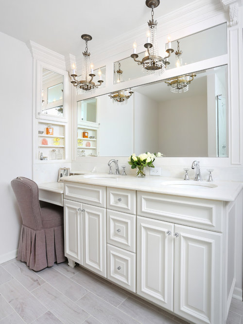 Bathroom design ideas remodels photos with raised panel for Bathroom trends 2017 houzz