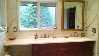 White Onyx Master Bathroom