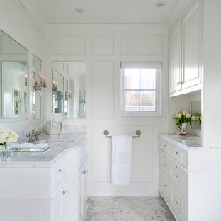 exciting master bathroom white cabinets | Paneled Bathroom | Houzz